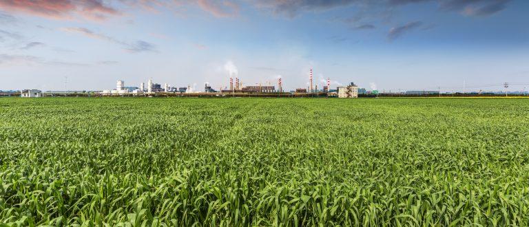 Ansicht einer Industrieanlage